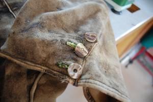 alte Hirschlederhose (Reparatur-Stück)